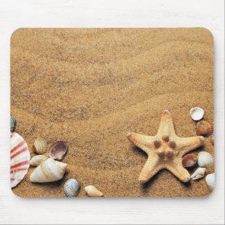 Seashells and Starfish on Beach Mouse Pad