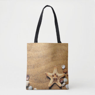 Seashells and Starfish on Beach Tote Bag