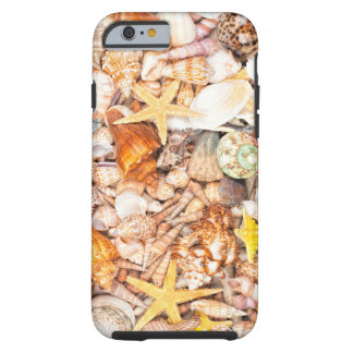 Seashells Background Tough iPhone 6 Case