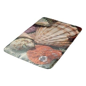 Beach Themed Seashells Bath Mat