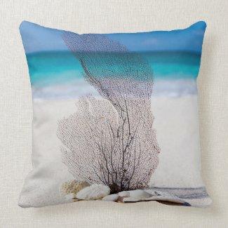 Seashells Beach Ocean Nautical Throw Pillows