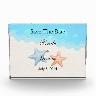 Seashells Beach Save The Date Acrylic Award