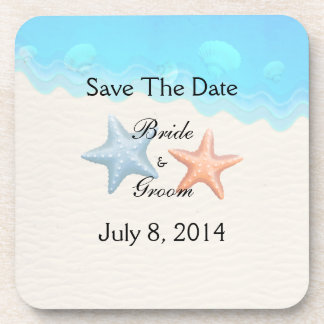 Seashells Beach Save The Date Coaster