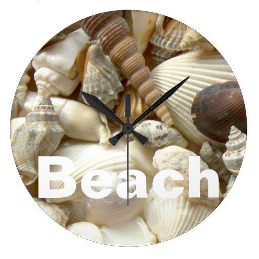 Seashells beach wall clock zazzle for Seashell clock