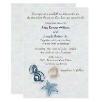 Seashells Beach wedding invitation