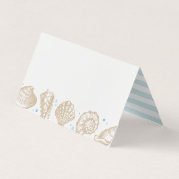 Beach Themed Seashells Beach Wedding Nautical Escort Place Card