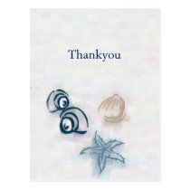 Seashells beach wedding Thank You Cards