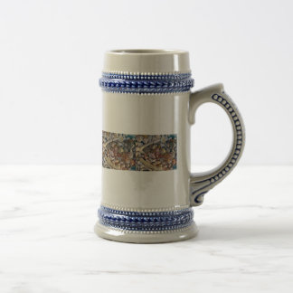 seashells beer stein