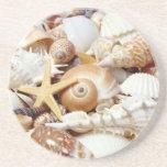 Seashells Beverage Coasters