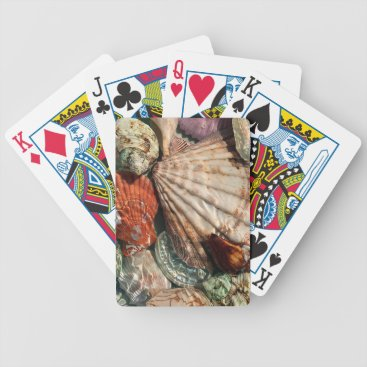 Beach Themed Seashells Bicycle Playing Cards