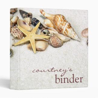 Seashells Binder Personalized