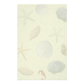 Seashells Blank Writing Paper