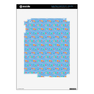 Seashells blue sea pattern skin for iPad 3