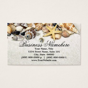 Beach Themed Seashells Business Cards