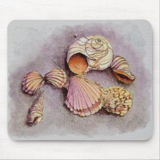 SEASHELLS by SHARON SHARPE Mouse Pad