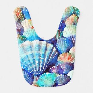 Seashells by the Seashore Bib