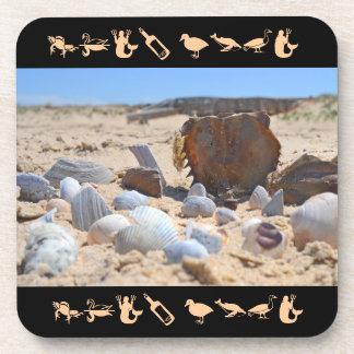 Seashells By The Seashore Drink Coasters