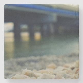 Seashells by the Seashore Stone Coaster
