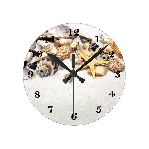 Seashells clock zazzle for Seashell clock