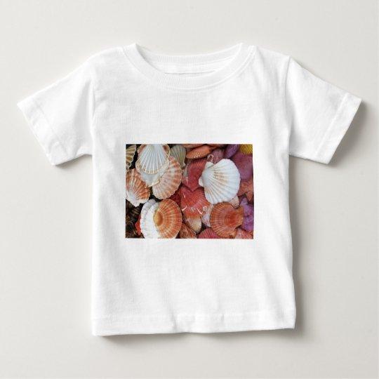 Seashells - close up sea shell photograph baby T-Shirt