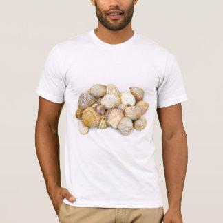 Seashells, Cockleshells, Scallops - Brown White T-Shirt