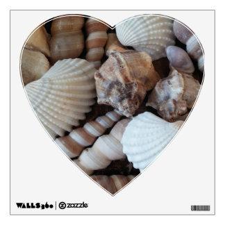 Seashells Collection, Summer Wall Decal Heart