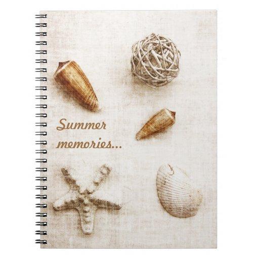 seashells - cuaderno de las memorias del verano