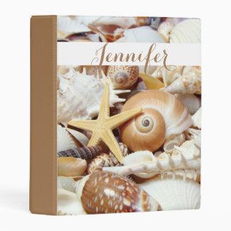Seashells Custom Mini Binder