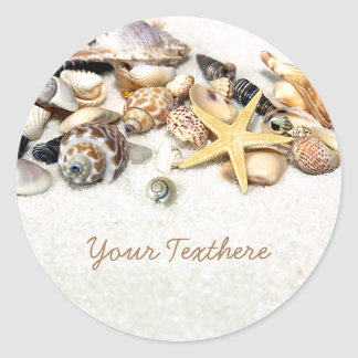 Seashells Custom Stickers