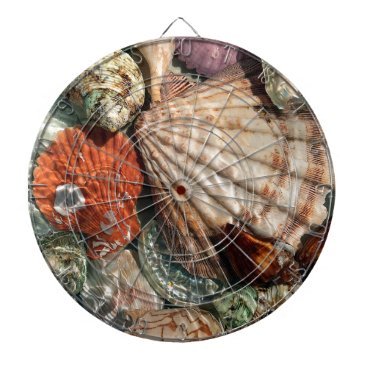 Beach Themed Seashells Dartboard With Darts