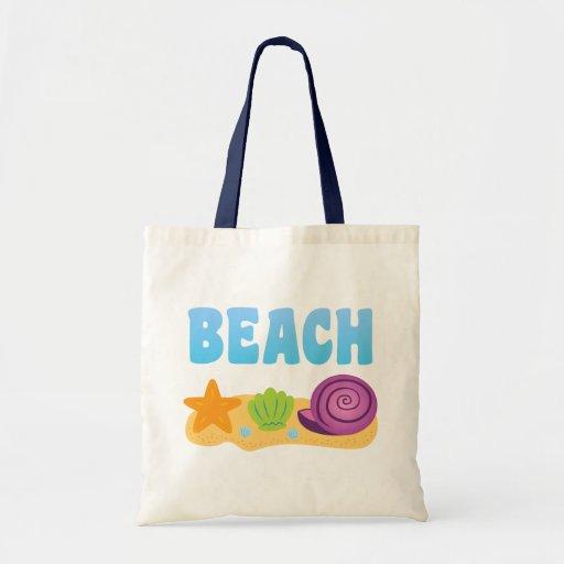 Seashells de la playa bolsa tela barata