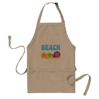 Seashells de la playa delantales