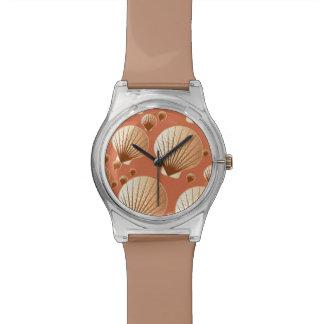 Seashells del chocolate y del moreno en marrón del relojes de mano