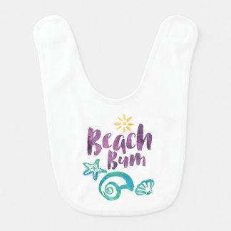 Seashells del vago de la playa y vacaciones de baberos para bebé