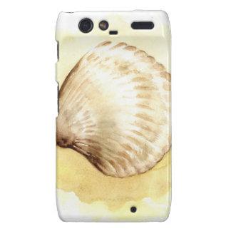 Seashells design with yellow seashell motorola droid RAZR cover