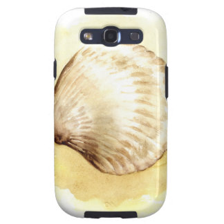 Seashells design with yellow seashell galaxy s3 covers