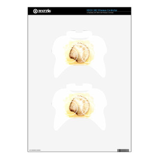 Seashells design with yellow seashell xbox 360 controller decal