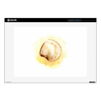 """Seashells design with yellow seashell decal for 15"""" laptop"""