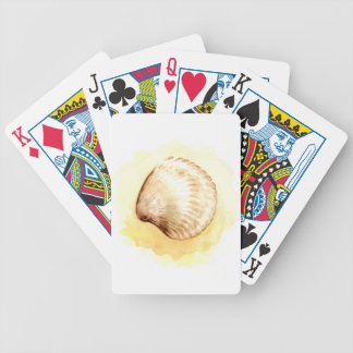 Seashells design yellow seaschel card decks