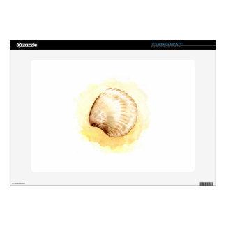 """Seashells design yellow seaschel 15"""" laptop decals"""