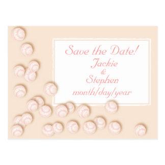 Seashells dispersados tarjeta postal