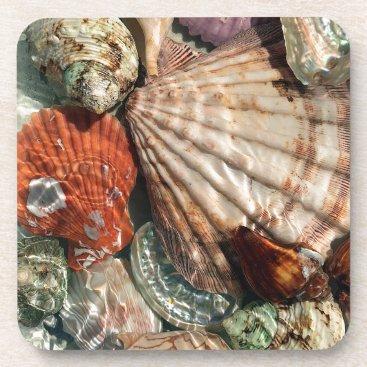 Beach Themed Seashells Drink Coaster