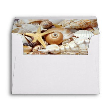 Beach Themed Seashells Envelope