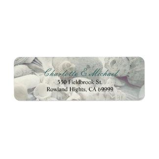Seashells Etiqueta De Remitente