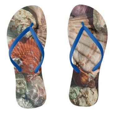 Beach Themed Seashells Flip Flops