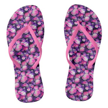 Beach Themed Seashells Flip Flops