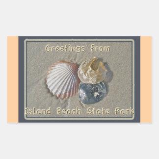 Seashells Greetings From IBSP Seaside Park NJ Rectangular Sticker