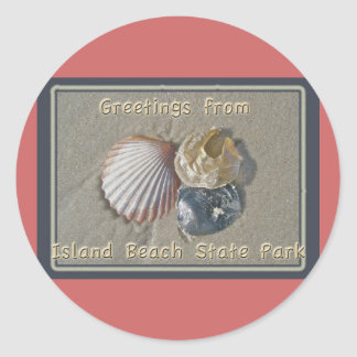 Seashells Greetings From IBSP Seaside Park NJ Classic Round Sticker