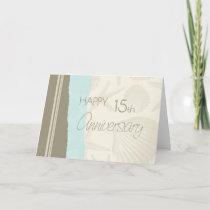 Seashells Happy 15th Wedding Anniversary Card