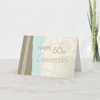 Seashells Happy 50th Wedding Anniversary Card
